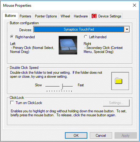 The Mouse Properties opened interface for how to change mouse cursor