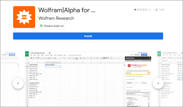 Wolfram - Alpha for Sheets