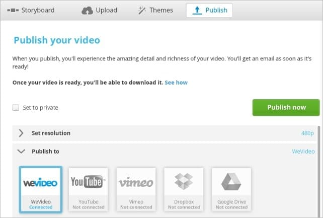 Publishing-WeVideo-Video