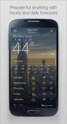 yahoo weather best weather app for android