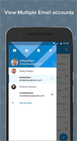 zoho mail best android email app