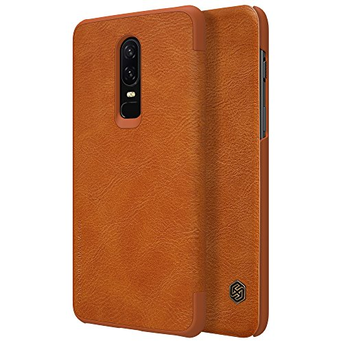 Oneplus 6 Case, Nillkin Qin Series [Flip Up] Cover Durable Slim PU Leather...