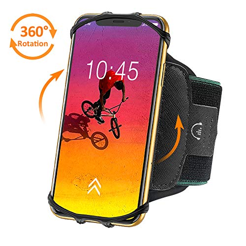Bovon 360°Rotatable Phone Armband, Super Breathable Sports Arm Band for...