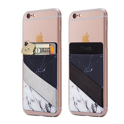 Cardly (Two) Finger Strap Cell Phone Stick on Wallet Card Holder Phone...
