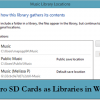 How To Use SD or Micro SD Cards As Libraries In Windows 8.1