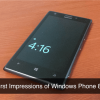 First Impressions of Windows Phone 8 With Nokia Lumia 925