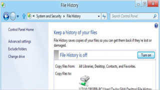 How To Use Windows 8 File History Feature to Backup and Restore Files