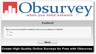 Create High Quality Online Surveys for Free with Obsurvey