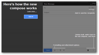 Check Out the New Look to Gmail's Compose Window