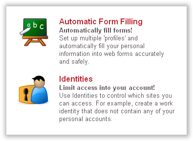 Automatic Form Filling and Identities on LastPass
