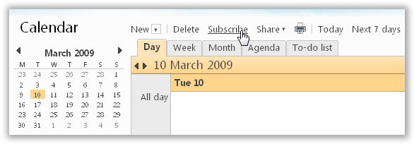 Import Calendar into Windows Live Calendar