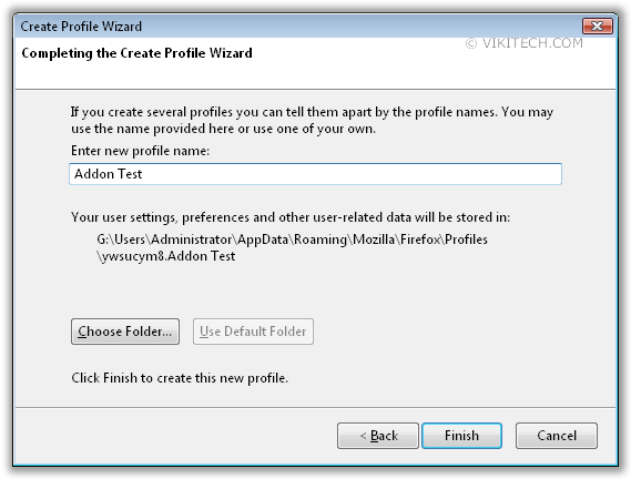 Firefox New Profile name(0)
