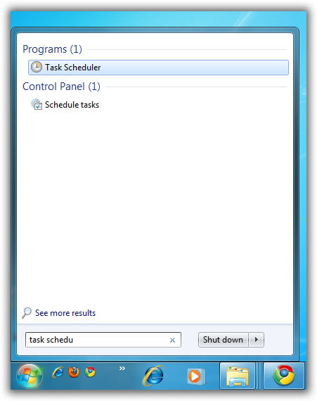 Go To Task Scheduler