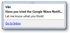 Google Wave Notier - Left Click on new waves