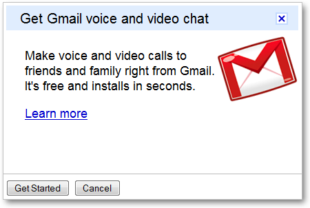 Popup for Gmail Voice and Video Chat