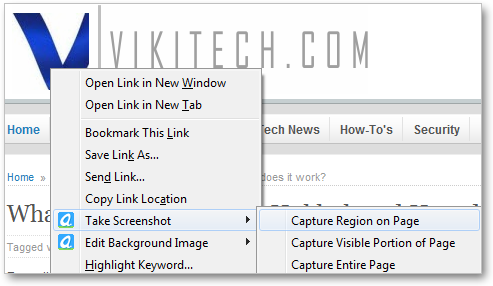 Right Click Context Menu for Aviary Firefox Addon