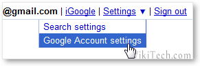 Access Google Account Options