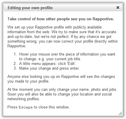 Adding Information To Your Profile