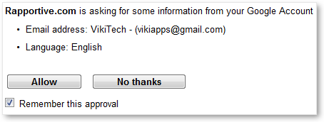 Allow Access from Gmail Id