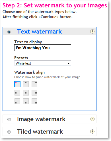 how to add a water mark online