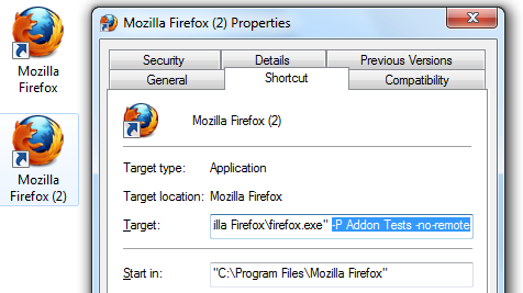 Create Shortcut for Specific Firefox Profile