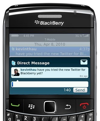 Official BlackBerry Twitter App - Features List