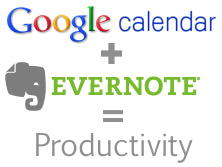 Gcal plus Evernote Gadget