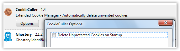 CookieCuller Options - © TechNorms