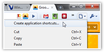 Create Application Shortcuts in Chrome - © TechNorms