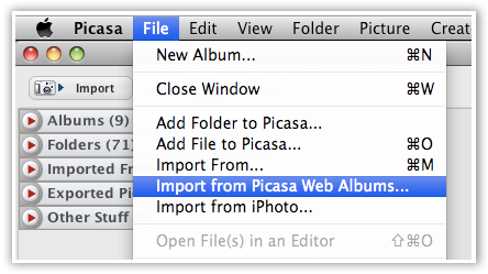 Export Data From Picasa - © TechNorms
