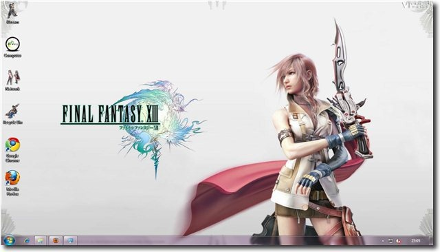 Windows 7 Game Themes Final Fantasy Xiii Theme For Windows