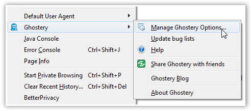 Ghostery Addon For Firefox - © TechNorms