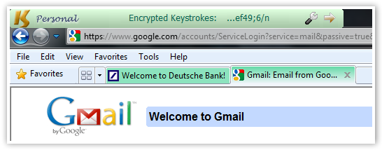 Gmail Login Encrypted Keys - © TechNorms