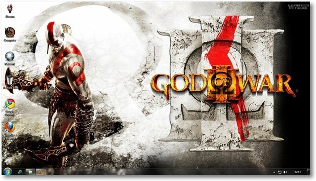 God Of War 3 Theme for Windows 7 and Windows 8