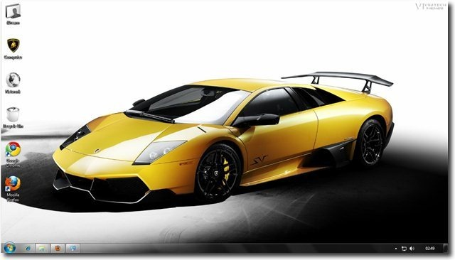 Free Windows 7 Lamborghini Car Themes And Wallpapers