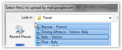Multiple File Upload in Gmail - © TechNorms