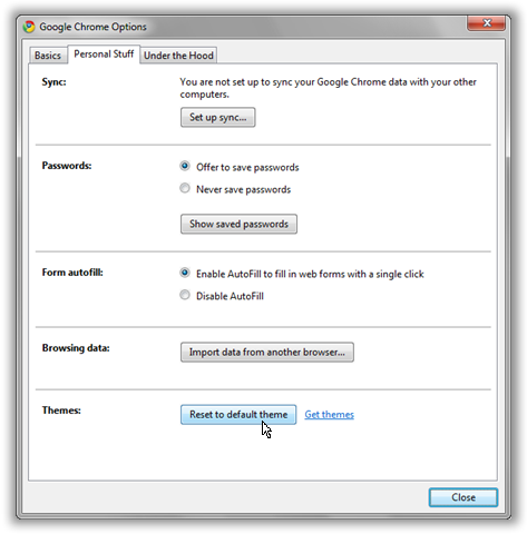 How to Remove/Uninstall Google Chrome Theme & reset it to