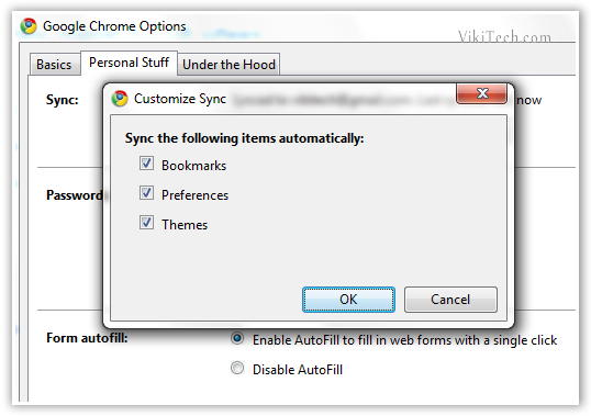 Sync Options - © TechNorms