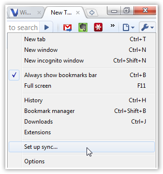 Synchronize Bookmarks across Computers - © TechNorms