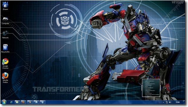 Transformers Theme For Windows 7 And Windows 8