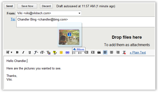Gmail - Drag and Drop Attachments - TechNorms.com