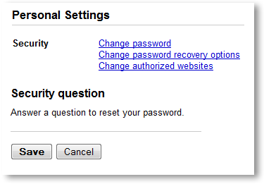 Change Security Question - © TechNorms