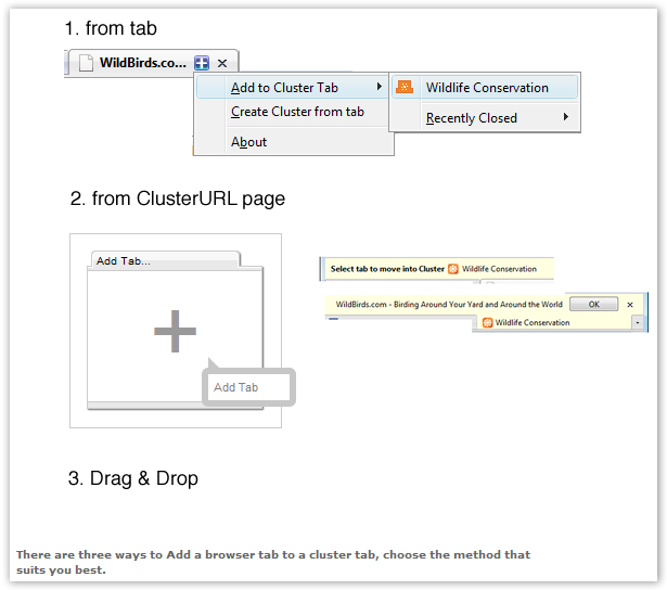 Cluster Tabs - © TechNorms