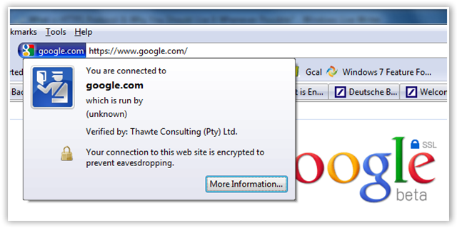 Google SSL Secure Search - © TechNorms