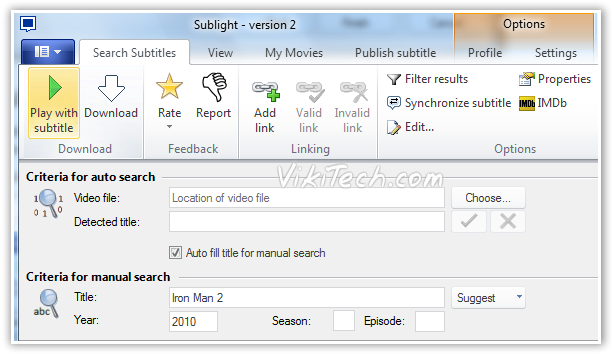 Search and Play with Subtitles  - © TechNorms