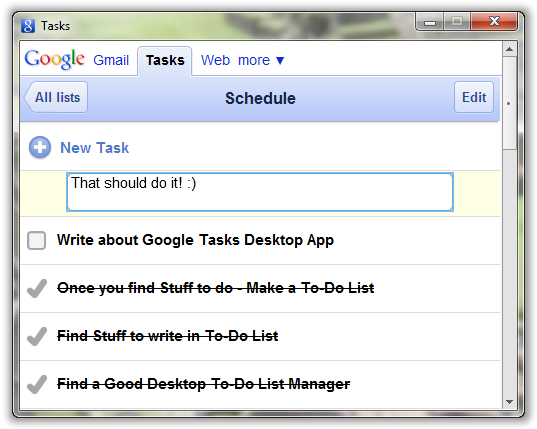 Google Tasks In Action - © TechNorms