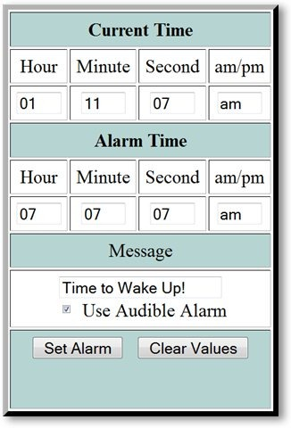 Online Alarm Clock by csgnetwork - © TechNorms