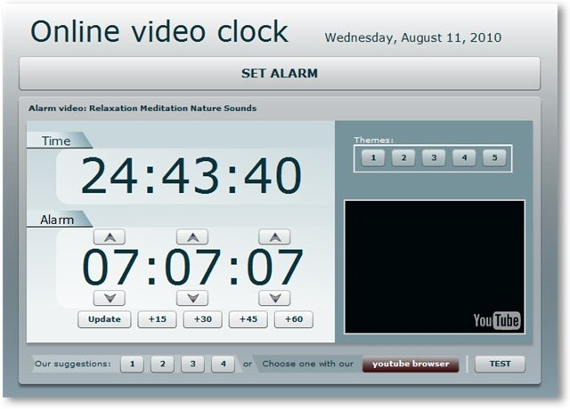 Online Video Clock - © TechNorms