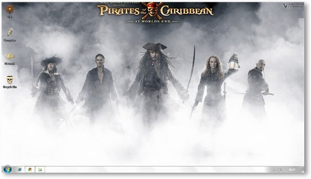 Windows 7 Pirates Of The Caribbean Theme Wallpapers