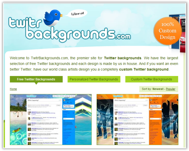 Get Amazing Free BackGround Images For Your Twitter Profile